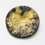 Storm, brooch - Silver, pure gold, niello, patina