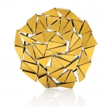 Labyrinth brooch - silver, pure gold, niello, patina