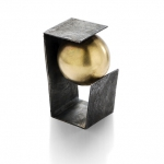 In balance - ring - silver, 18kt yellow gold, niello, patina 2014