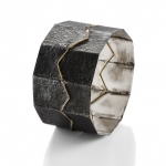 Fragments - bracelet - silver, 18kt yellow gold, niello, patina 2014
