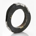 Contact - bracelet - silver,18kt yellowgold,niello, patina - 2012