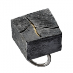 Cracks - In the box series - silver,18kt yellow gold,niello,patina - 2011