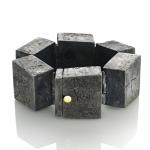 Stonehenge - bracelet - silver,18kt yellow gold,niello,patina - 2012